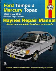 old cars and repair manuals free 1984 mitsubishi space engine control haynes ford tempo mercury topaz 1984 thru 1994 isbn 1563921286 repair manuals ford