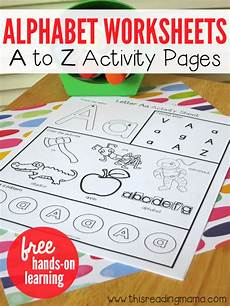 free alphabet worksheets a to z activity pages free