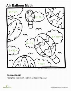 addition coloring page 1st grade math pages math