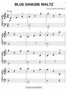 blue danube waltz sheet music by johann strauss ii piano big notes 50365