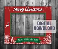 printable christmas photo booth frame digital download
