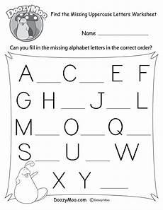 missing letter worksheets kindergarten 23183 find the missing uppercase letters worksheet free printable