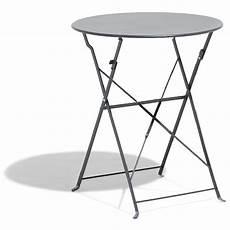 table pliante 2 personnes table de jardin ronde pliante 2 personnes m 233 tal gris