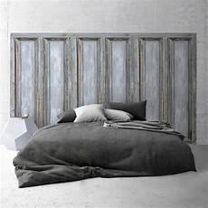 tete de lit grise t 234 te de lit effet de mati 232 re panneau en bois gris 233 120x120cm vinyle adh 233 sif