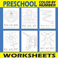 colours and numbers worksheets 18745 preschool color by number worksheets itsy bitsy