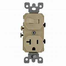 leviton 20 commercial grade combination single pole switch and receptacle ivory 5335 i