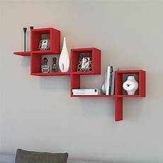 mensole a muro in legno mensola larry a muro moderna in legno bianco o rosso
