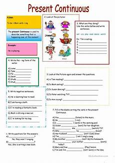 grammar worksheets present continuous tense 24932 present continuous worksheet free esl printable worksheets made by teachers