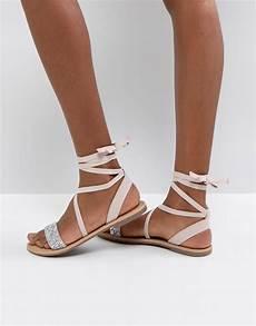 asos asos fi embellished flat sandals