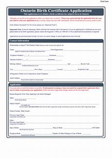 fillable ontario birth certificate application printable pdf download