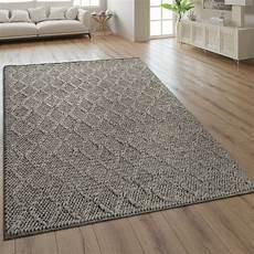 teppich handgefertigt rauten muster taupe teppich