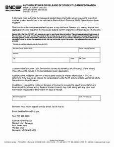 authorization for release of student loan information north dakota free download