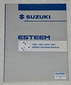 1998 suzuki esteem wiring diagrams 1998 2001 suzuki esteem electrical wiring diagrams shop manual gl glx 1999 2000 ebay
