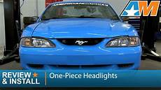 pieces ford mustang 1994 1998 mustang one black headlights review