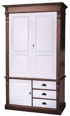 kleiderschrank braun casa padrino landhausstil kleiderschrank antik braun