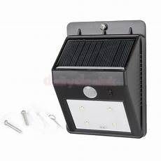 outdoor 4 led solar panel pir motion sensor wall light
