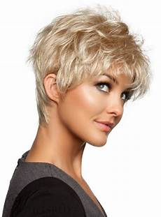 short wispy neckline haircuts short slightly fluffy wispy 8 inches bang pixie hairstyle human hair capless wig wigsbuy com