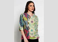? 42  model baju batik atasan wanita kerja lengan panjang