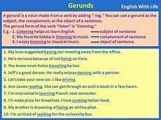 gerunds in english english learn site
