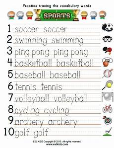 sports tracing worksheets 15881 sports activities and worksheets for