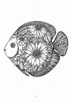 malvorlagen mandala fische