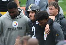 steelers make it official rudolph out of concussion steelers qb rudolph knocked unconscious on hit by