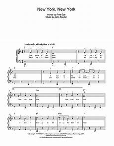 frank sinatra new york new york sheet music