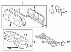 2012 tacoma seat wiring diagram genuine oem front seat components parts for 2012 toyota tacoma pre runner olathe toyota parts