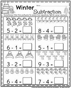 kindergarten math and literacy printables january by planning playtime