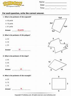 find perimeter of given polygons worksheet turtle diary