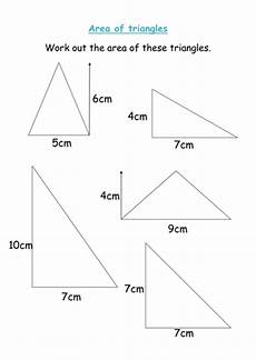 area of triangles worksheet teaching resources