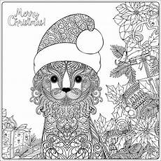 cat with gifts coloring pages