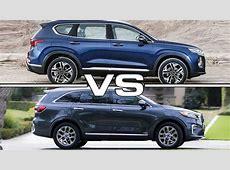 2019 Hyundai Santa Fe vs 2019 Kia Sorento   YouTube
