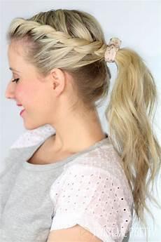 twisted ponytail day 28 twist me pretty