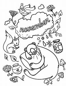 November Malvorlagen Indonesia Printable November Coloring Page Free Pdf At
