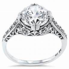 wedding engagement 925 sterling silver antique style cz ring 123 ebay