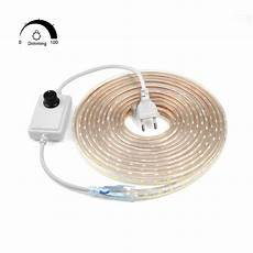 dimmable waterproof 220v led strip with eu plug 5050 smd