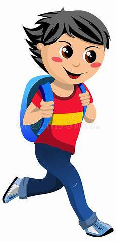 happy little with school bag going to school royalty free stock image image 31325846