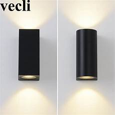 modern up and down wall light fixture cube cylinder porch balcony residential wall mounted