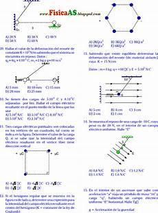 electrost 193 tica co el 201 ctrico fuerza el 201 ctrica problemas con respuestas fisica problemas