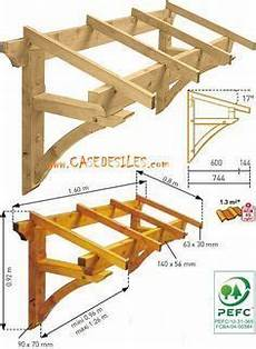 marquise de porte en bois building an awning how to build a wooden awning in 2019
