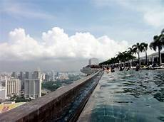 swimming at the world s highest infinity pool