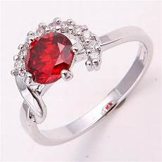 10k white gold filled ruby ring ruby wedding rings