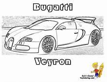 Super Fast Cars Coloring  Free Bugatti