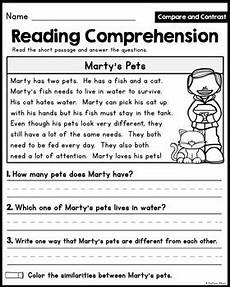 reading comprehension passages compare and contrast little readers