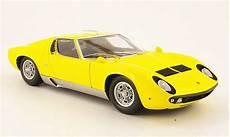 lamborghini miura p400 s gelb kyosho modellauto 1 18