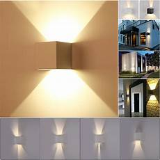 new 7w modern led wall light up down cube indoor outdoor