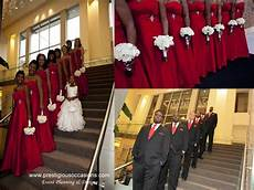 prestigious occasions a red black and white wedding