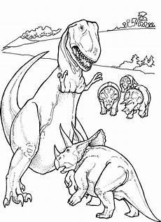 t rex gegen protoceratops ausmalbild malvorlage tiere