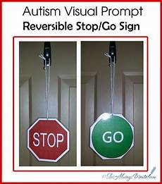 She S Always Write Autism Visual Tool Reversible Stop